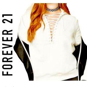 Forever 21 white jacket 🧥❄️🙂